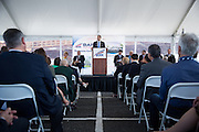 City of San Jose Council Member Sam Liccardo gives a speech during VTA's BART Silicon Valley Extension Celebration in San Jose, California, on August 20, 2014. (Stan Olszewski/SOSKIphoto)