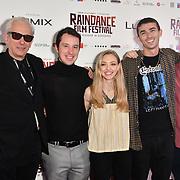 Elliot Grove, Eli Powers, Amanda Seyfried, Aidan Sheldon and Thaddeus Bouska attends World Premiere of Holy Moses - Raindance Film Festival 2018, London, UK. 6 October 2018.