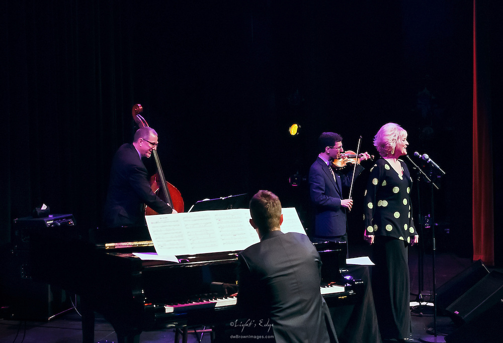Christine Ebersole with The Aaron Weinstein Trio at SOPAC in South Orange, NJ.