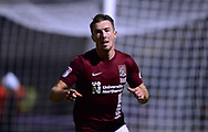 Chris Long of Northampton Town  celebrates after he scores his teams 1st goal to put his side 1-0 up. EFL Skybet Football League one match, Northampton Town v Portsmouth at the Sixfields Stadium in Northampton on Tuesday 12th September 2017. <br /> pic by Bradley Collyer, Andrew Orchard sports photography.