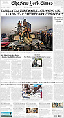 August 16, 2021 - USA: Front-page: Today's Newspapers In United States