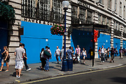 The Cafe Royal, one of London's most famous restaurants is boarded up, closed for good. Regent Street.