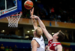 Chris Kaman of Germany vs Omer Asik of Turkey during basketball game between National basketball teams of Germany and Turkey at FIBA Europe Eurobasket Lithuania 2011, on September 9, 2011, in Siemens Arena,  Vilnius, Lithuania.  (Photo by Vid Ponikvar / Sportida)