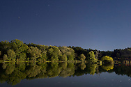 Middletown, New York - The lake at Fancher-Davidge Park on the night of Aug. 29, 2012.