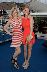 The Johnnie Walker Gold Label Reserve Party aboard John Walker & Sons Voyager, St.Georges Stairs Tier, Butler's Wharf Pier, London, UK on 17th July 2013.<br /> Picture Shows:-Alexia Inge & Olivia Inge.