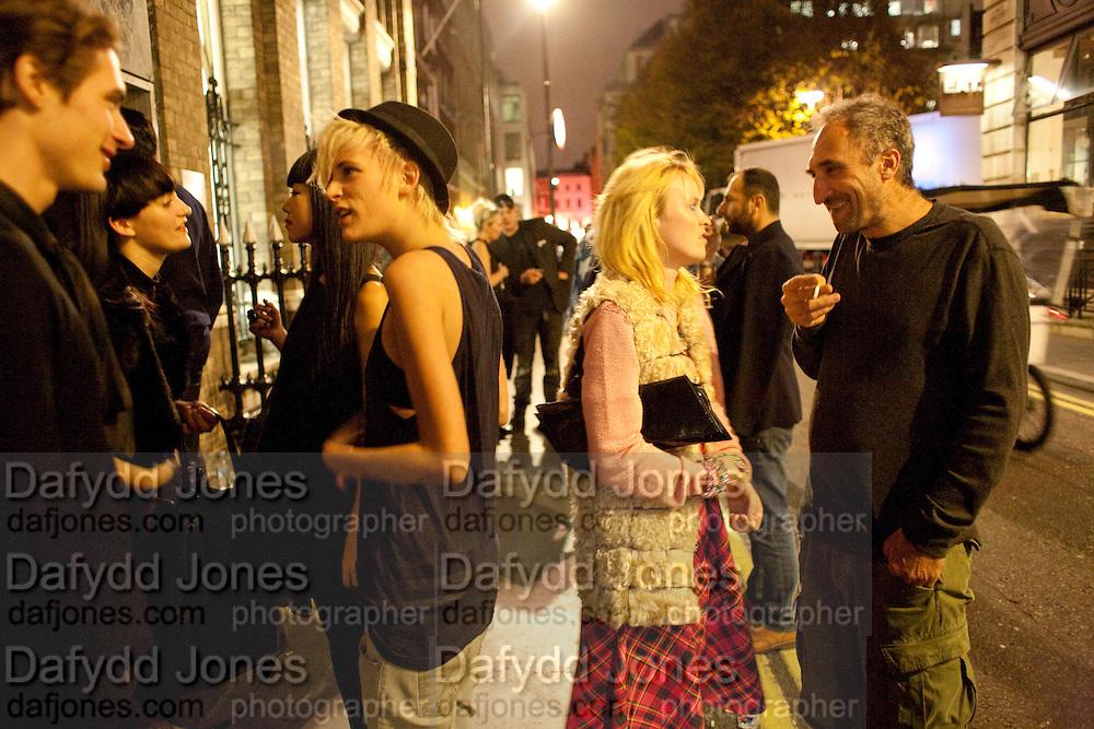 30 Years Of i-D - book launch. Q Book 5-8 Lower John Street, London . 4 November 2010. -DO NOT ARCHIVE-© Copyright Photograph by Dafydd Jones. 248 Clapham Rd. London SW9 0PZ. Tel 0207 820 0771. www.dafjones.com.