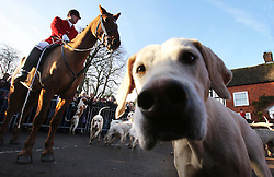 The East Kent hunt gathers for the traditional Boxing Day hunt at Elham, Kent, Wednesday, 26th December 2012  Photo by: Stephen Lock / i-Images