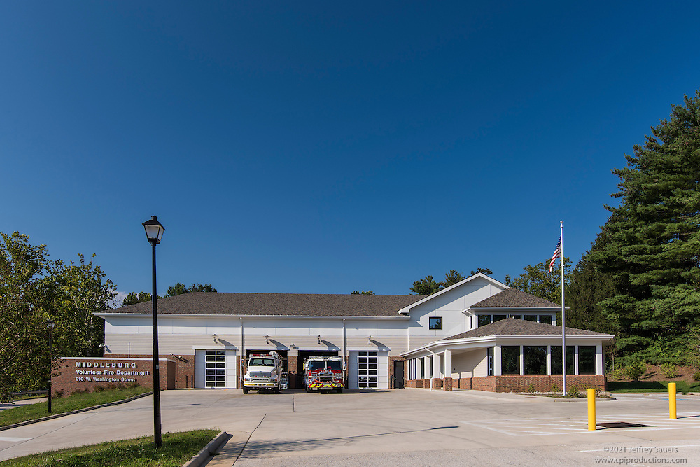 Exterior Image of Middleburg Fire Station by Jeffrey Sauers of Commercial Photographics, Architectural Photo Artistry in Washington DC, Virginia to Florida and PA to New England