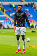 Bournemouth defender Lloyd Kelly (5) during the pre-match warm-up before the EFL Sky Bet Championship match between Cardiff City and Bournemouth at the Cardiff City Stadium, Cardiff, Wales on 18 September 2021.
