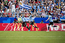 June 25, 2018 - Samara, Russia - FIFA World Cup 2018 Luis SuÁrez gör 1-0. Fotbolls-VM, match 33, Uruguay-Ryssland, Samara Stadium. Uruguay vs Russia, Group A, Samara Arena, Samara, Russia, 25 June 2018, (Credit Image: © Orre Pontus/Aftonbladet/IBL via ZUMA Wire)