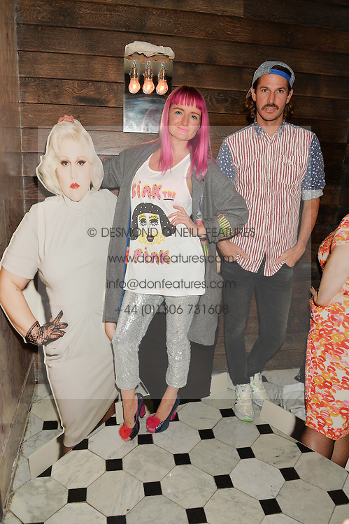 Glyn Famous and Amy Zing at a party to celebrate the launch of the Beth Ditto Clothing Line held at The London Edition, Berners Street, London on 18th February 2016.