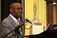 DURBAN - 28 March 2012 - Velile Dube, the acting Chief Operations Officer for Transnet's container terminals, speaks at a breakfast giving details of an upgrade to the two terminals..Picture: Giordano Stolley/Allied Picture Press/APP
