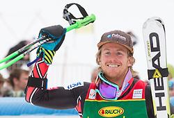 Winner LIGETY Ted of USA celebrates at trophy ceremony after the 2nd Run of 7th Men's Giant Slalom - Pokal Vitranc 2013 of FIS Alpine Ski World Cup 2012/2013, on March 9, 2013 in Vitranc, Kranjska Gora, Slovenia. (Photo By Vid Ponikvar / Sportida.com)