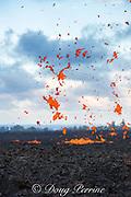 lava from Kilauea Volcano erupts from a fissure in Kapoho, Puna District, near Pahoa, Hawaii Island ( the Big Island ), Hawaii, U.S.A.