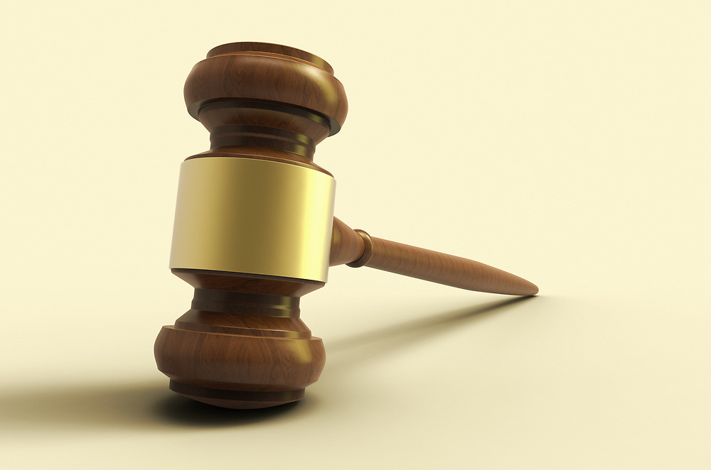 3D rendering of an auction/justice gavel
