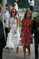 Pippa Middleton and celebrities leaving The All England Club in London after the men's finals. 16 Jul 2017 Pictured: Carole Middleton,Pippa Middleton. Photo credit: MEGA TheMegaAgency.com +1 888 505 6342