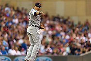 Miguel Cabrera (24) of the Detroit Tigers reacts after making an out at 1st base during a game against the Minnesota Twins on August 14, 2012 at Target Field in Minneapolis, Minnesota.  The Tigers defeated the Twins 8 to 4.  Photo: Ben Krause