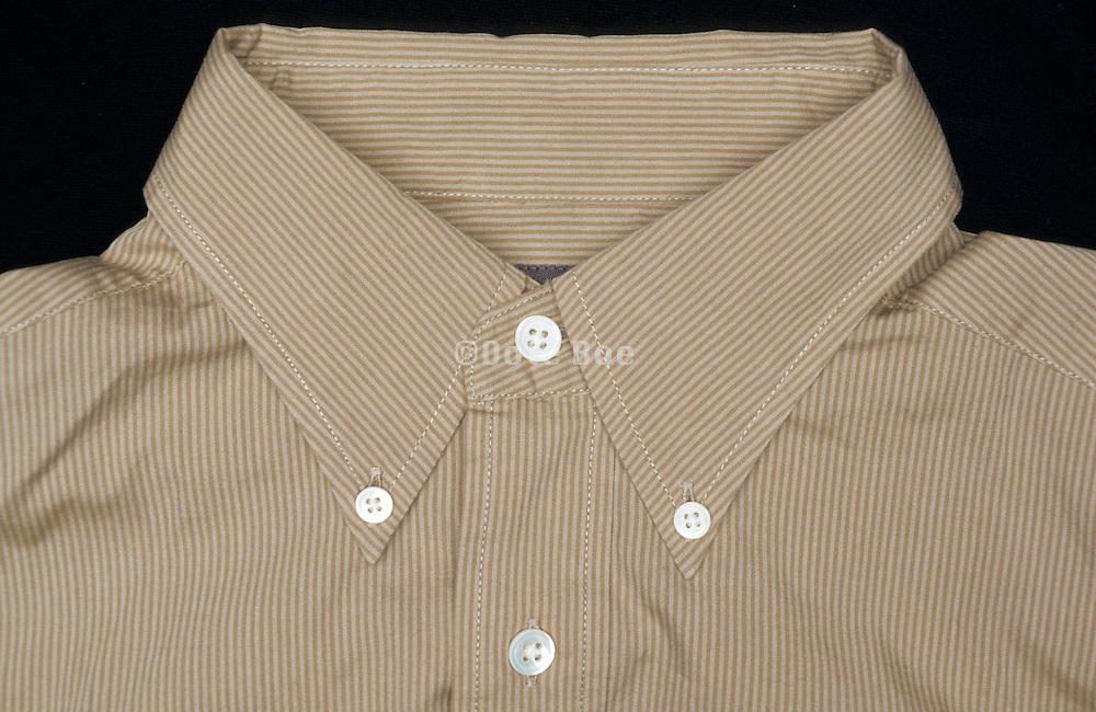 close up of shirt collar