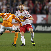 Markus Holgersson, New York Red Bulls, in action during the New York Red Bulls V Houston Dynamo , Major League Soccer second leg of the Eastern Conference Semifinals match at Red Bull Arena, Harrison, New Jersey. USA. 6th November 2013. Photo Tim Clayton
