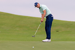 May 9, 2019 - Dallas, TX, U.S. - DALLAS, TX - MAY 09: Jordan Spieth putts on the ninth green during the first round of the AT&T Byron Nelson on May 9, 2019 at Trinity Forest Golf Club in Dallas, TX. (Photo by Andrew Dieb/Icon Sportswire) (Credit Image: © Andrew Dieb/Icon SMI via ZUMA Press)
