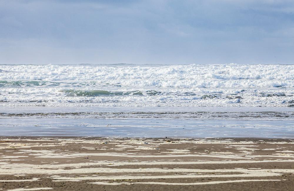 Pacific coast, Seaside, Oregon, USA.