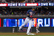 Pedro Florimon #25 of the Minnesota Twins rounds the bases after hitting a home run Boston Red Sox on May 17, 2013 at Target Field in Minneapolis, Minnesota.  The Red Sox defeated the Twins 3 to 2.  Photo: Ben Krause