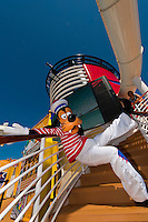 Goofy aboard the Disney Dream cruise ship sailing between Florida and the Bahamas.