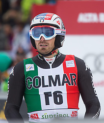22.12.2013, Gran Risa, Alta Badia, ITA, FIS Ski Weltcup, Alta Badia, Riesenslalom, Herren, 2. Durchgang, im Bild Manfred Moelgg (ITA) // Manfred Moelgg of Italy reacts in the finish Area during 2nd run of mens Giant Slalom of the Alta Badia FIS Ski Alpine World Cup at the Gran Risa Course in Alta Badia, Italy on 2012/12/22. EXPA Pictures © 2013, PhotoCredit: EXPA/ Johann Groder