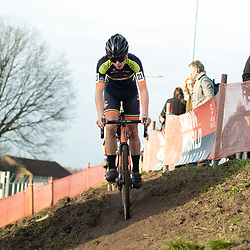 11-01-2020: Wielrennen: NK Veldrijden: Rucphen <br />David Havderdings (Zuidlaren) pakt de titel in het veld bij de nieuwelingen