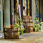 There's an interesting restaurant on this side of 187 street.  The various barrels are used to frame its doorway.  I thought they made an interesting statement by themselves.