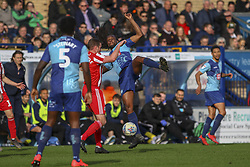 March 9, 2019 - High Wycombe, Buckinghamshire, United Kingdom - Wycombe's Marcus Bean challenges for the ball during the Sky Bet League 1 match between Wycombe Wanderers and Sunderland at Adams Park, High Wycombe, England  on Saturday 9th March 2019. (Credit Image: © Mi News/NurPhoto via ZUMA Press)