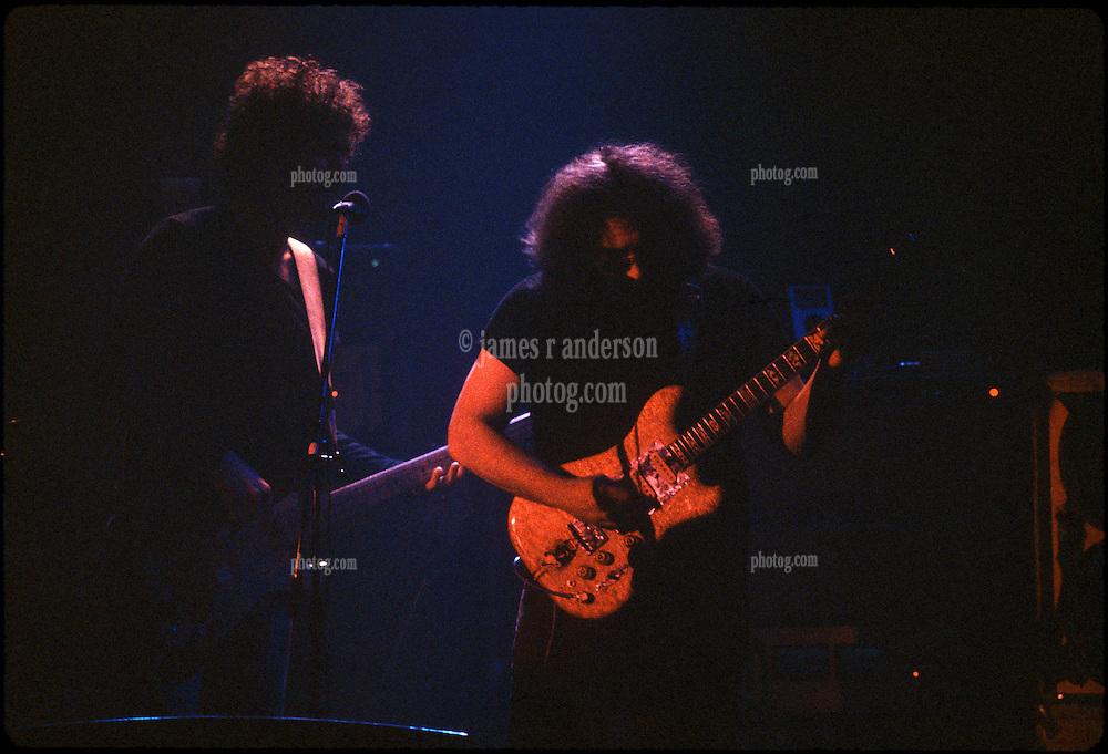 Jerry & John Kahn, The Jerry Garcia Band at the Capitol Theater, Passaic  NJ 11-26-77. From an original Kodak Ektachrome Professional Tungsten Film Slide, EPT160.