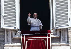 June 11, 2017 - Vatican City State (Holy See) - POPE FRANCIS leads Angelus Prayer from the window of the apostolic building in St. Peter's Square at the Vatican  (Credit Image: © Evandro Inetti via ZUMA Wire)