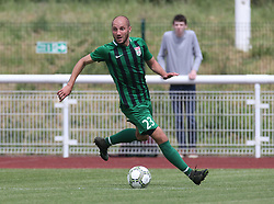 May 31, 2018 - London, United Kingdom - Akhvlediani of Abkhazia .during Conifa Paddy Power World Football Cup 2018  Group B match between  Abkhazia  against Tibet at Queen Elizabeth II Stadium (Enfield Town FC), London, on 31 May 2018  (Credit Image: © Kieran Galvin/NurPhoto via ZUMA Press)