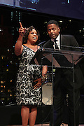 November 3, 2012- New York, NY: (L-R) On-Air personality Sherri Shepherd and On-Air personality AJ Calloway at the EBONY Power 100 Gala Presented by Nationwide held at Jazz at Lincoln Center on November 3, 2012 in New York City. The EBONY Power 100 Gala Presented by Nationwide salutes the country's most influential African Americans.(Terrence Jennings) .