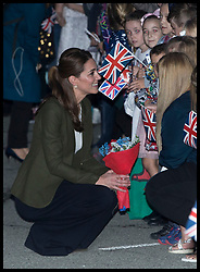 December 5, 2018 - Cyprus - Image licensed to i-Images Picture Agency. 05/12/2018. RAF Akrotiri, Cyprus. The Duke and Duchess of Cambridge at RAF Akrotiri in Cyprus where they met with Serving personnel and their families living on the base  (Credit Image: © Stephen Lock/i-Images via ZUMA Press)