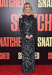 "World Premiere of ""Snatched"". Regency Village Theatre, Westwood, California. Pictured: Christopher Meloni. EVENT May 10, 2017. 10 May 2017 Pictured: Goldie Hawn. Photo credit: AXELLE/BAUER-GRIFFIN / MEGA TheMegaAgency.com +1 888 505 6342"