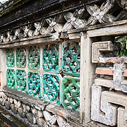 Stone wall detail at ancient capital city of Hua Lu, Nimh Binh Provence