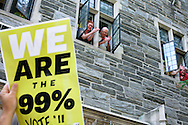 """October 11, 2011  The Occupy Wall Street protest, moved uptown  for a  Billionaires March""""  along 5th and Park  Avenues visiting  the  buildings of five of the city's wealthiest residents, including News Corp. CEO Rupert Murdoch, JPMorgan Chase CEO Jamie Dimon and conservative billionaire David Koch... As marchers passed the Park Ave Christan Church, they were cheered by parishoners who said """"Bless all of you, we support you"""""""