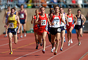 Alan Webb (20) wins the men's Olympic Development mile in 4:04.42 in the 110th Penn Relays at  Franklin Field on Saturday, April 24, 2004 in Philadelphia. Jason Long (2) was second in 4:04.93 and Aaron Lanzel (8) was third in 4:05.03.