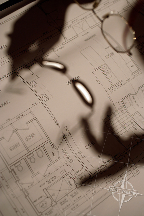 Hands and Plans, Architectural Blue Prints