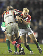 Reading, GREAT BRITAIN, Exiles [L] Delon ARMITAGE and Shane GERATHAY, during the third round Heineken Cup game, London Irish vs Ulster Rugby, at the Madejski Stadium, Reading ENGLAND, Sat., <br /> 09.12.2006. [Photo Peter Spurrier/Intersport Images]