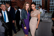 NATALIE MASSENET; VICTORIA BECKHAM, NATALIE MASSANET, Alexandra Shulman, Editor of Vogue & Phil Popham, Managing Director of Land Rover<br /> host the 40th Anniversary of Range Rover. The Orangery at Kensington Palace. London. 1 July 2010. -DO NOT ARCHIVE-© Copyright Photograph by Dafydd Jones. 248 Clapham Rd. London SW9 0PZ. Tel 0207 820 0771. www.dafjones.com.