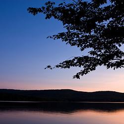 Dusk on Lake Francis in Pittsburg, New Hampshire.