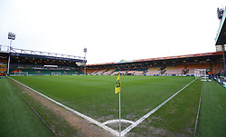 A general view inside Carrow Road before the game between Norwich City and Ipswich Town during the Premier League match at Carrow Road, Norwich.