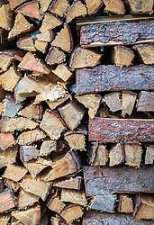 THEMENBILD - aufgestapeltes Brennholz, aufgenommen am 12. August 2018, Kaprun, Österreich // stacked firewood on 2018/08/12, Kaprun, Austria. EXPA Pictures © 2018, PhotoCredit: EXPA/ Stefanie Oberhauser