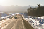 Highway 32 near Tetonia, Idaho on the route between West Yellowstone and Jackson