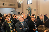 Turkey, Istanbul: People attending the Sunday morning service at the Samatya kilisesi (church) in Istanbul's Fatih neighbourhood. The congregation is divese, including Syrian, Armenian, Lebanese and Turkish citizens, from a range of Christian sects. The service is conducted in both Turkish and Syriac (a dialect of Aramaic)