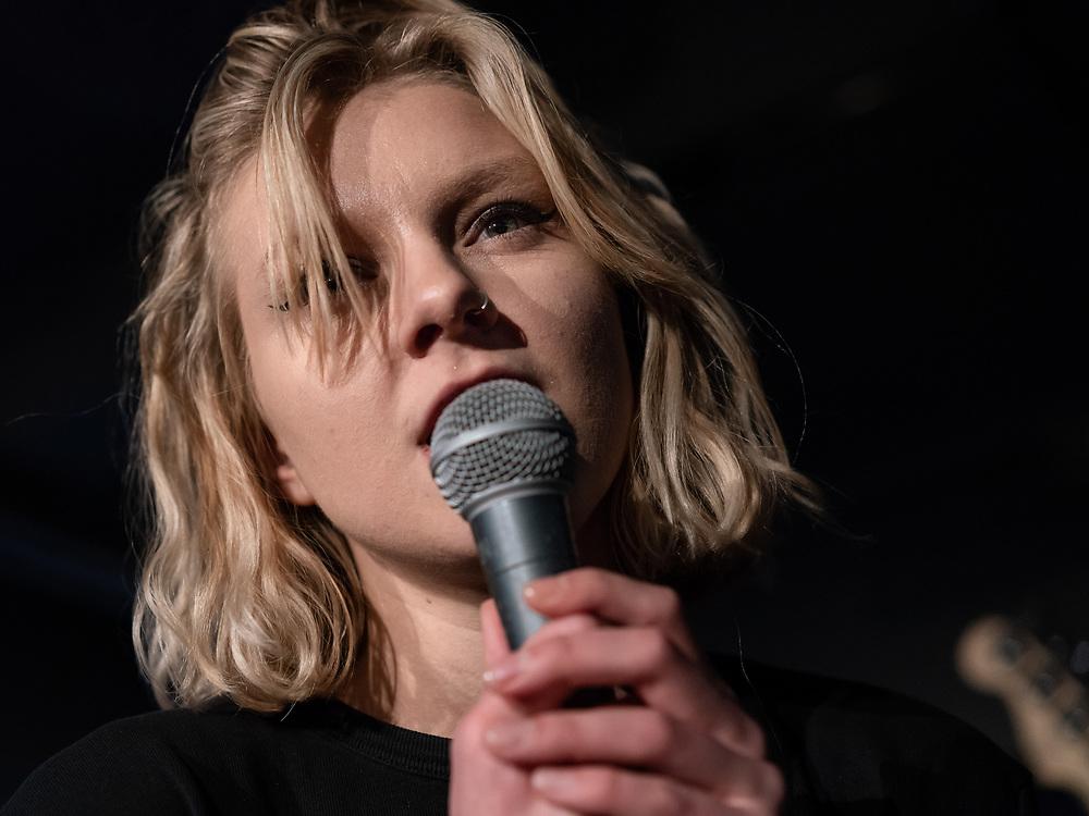 Brynhildur Karlsdóttir of Icelandic punk-rock band Hórmónar at Iceland Airwaves