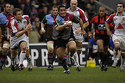 Twickenham, GREAT BRITAIN, Quins hooker, Tani FUGA, attacking with the ball, during the Guinness Premieship match, NEC Harlequins vs Bristol Rugby, at the Twickenham Stoop Stadium, England, on Sat 24.02.2007  [Photo, Peter Spurrier/Intersport-images].....